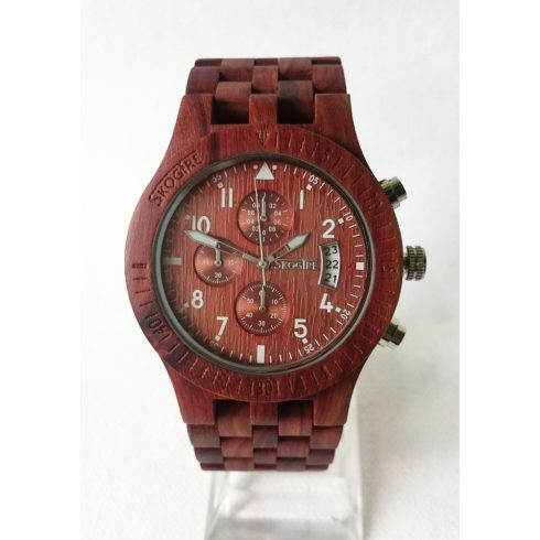 Men sandalwood watch with stopper