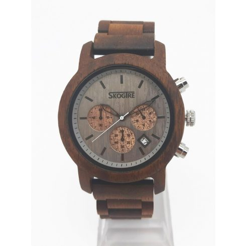 Men walnut watch with stopper