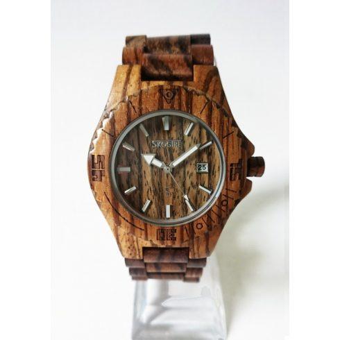 Men zebrawood watch