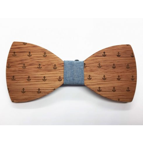 Anchor patterned bow tie set