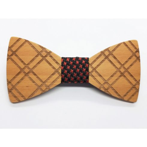 Patterned maple bow tie set