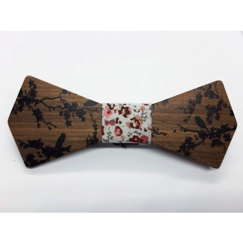 Bird pattern bow tie set
