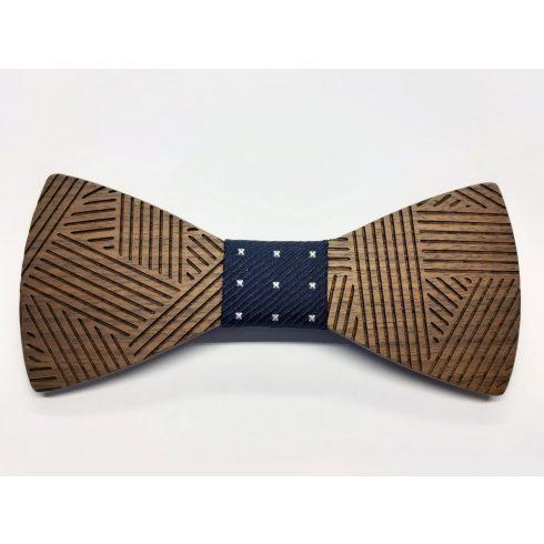 Patterned walnut bow tie set