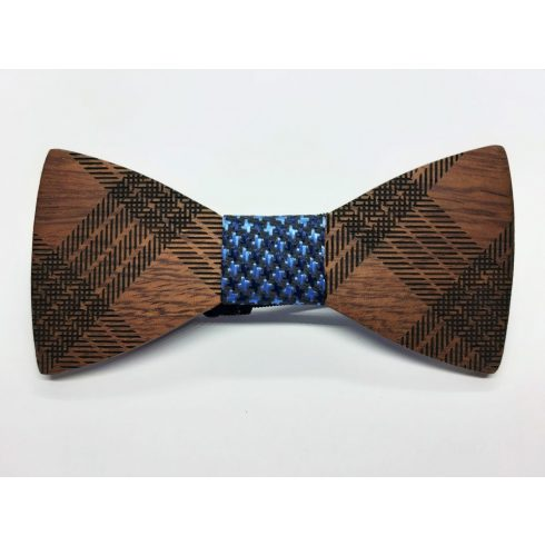 Patterned rosewood bow tie set