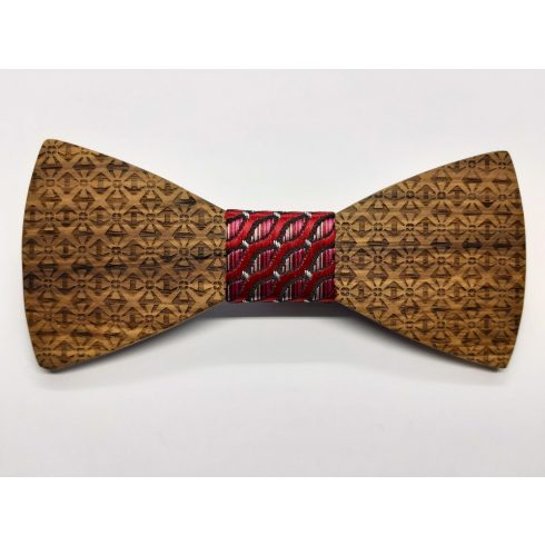 Zebra wood patterned bow tie set