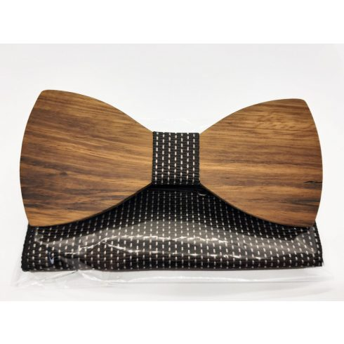 Zebra wood bow tie set